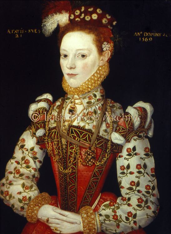 A Young Woman of 21, (1569). English School 16th century.