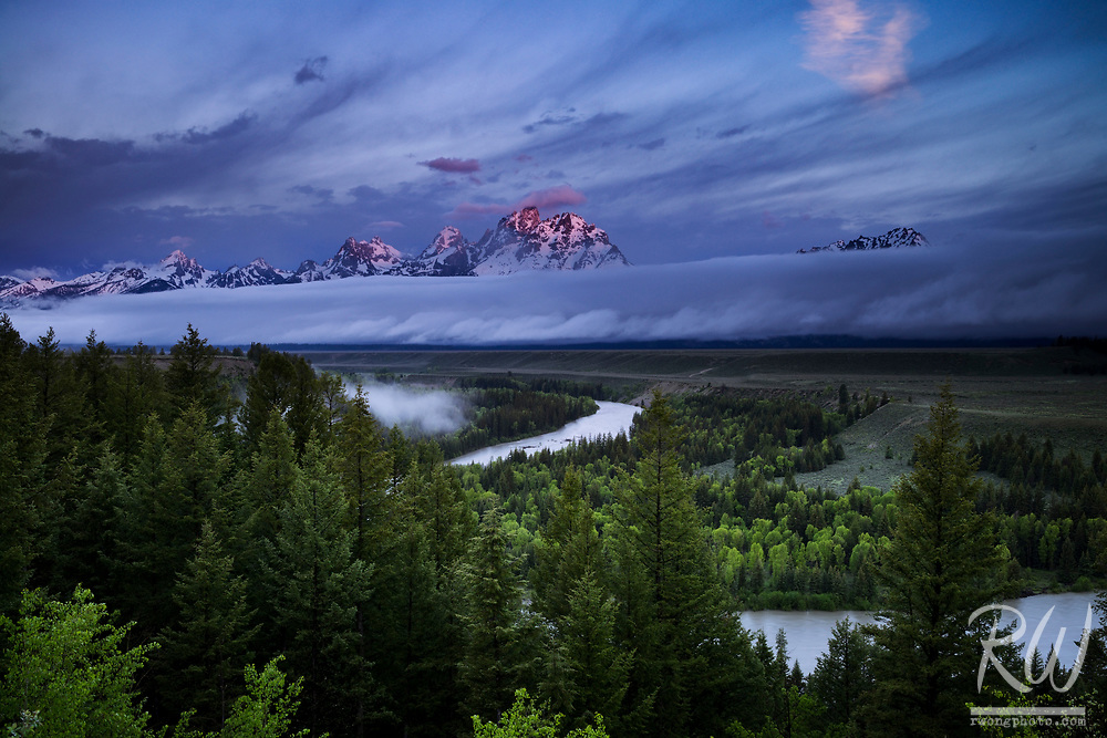 Snake River Overlook at Sunrise, Grand Teton National Park, Wyoming<br />