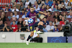 September 18, 2018 - Barcelona, Catalonia, Spain - Jordi Alba of FC Barcelona in action during the UEFA Champions League, Group B football match between FC Barcelona and PSV Eindhoven on September 18, 2018 at Camp Nou stadium in Barcelona, Spain (Credit Image: © Manuel Blondeau via ZUMA Wire)