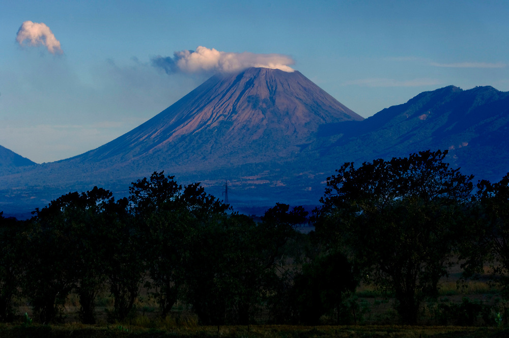 Active San Cristobal Volcano is Nicaragua's tallest volcano and creates a steady stream of steam and ash.
