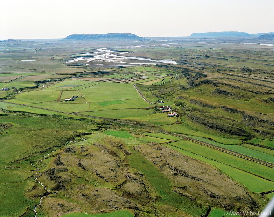 Þórarinsstaðir, Hrunamannahreppur, Loftmynd..Thorarinsstadir, Hrunamannahreppur. Aerial.