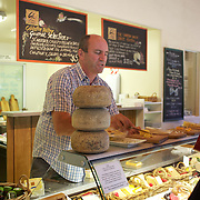 The Gibbston Valley Cheesery is located in Queenstown's Valley of Vines, high in the southern mountains, Gibbston Valley Cheese specialises in sheep, cow and goat milk cheeses hand-crafted in the European style..The premises features a café, retail shop, cheese-making presentation and complimentary tastings of the Gibbston Valley Cheese range..23 March  2011.  Photo Tim Clayton.