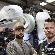 Designer Christopher Kelly and Factory Settings director Lucien Mansell. Aurora is a giant polar bear puppet, the size of a London double decker bus. The bear is the brain child of Greenpeace UK and it will be the center piece in the Greenpeace campaign Save the Arctic  global day of action in London Sept 15th. Aurora is designed by Christopher Kelly in collaboration with props designer Simon Costin and made by Factory Settings in East London.