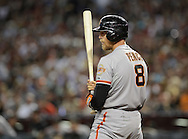 PHOENIX, AZ - JUNE 08:  Outfielder Hunter Pence #8 of the San Francisco Giants at bat against the Arizona Diamondbacks at Chase Field on June 8, 2013 in Phoenix, Arizona. The Giants defeated the Diamondbacks 10-5.  (Photo by Jennifer Stewart/Getty Images)
