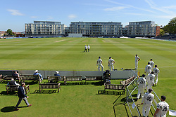 A general view of the County Ground as the two teams walk out onto the pitch - Photo mandatory by-line: Dougie Allward/JMP - Mobile: 07966 386802 - 21/05/2015 - SPORT - Cricket - Bristol - County Ground - Gloucestershire v Kent - LV=County Cricket