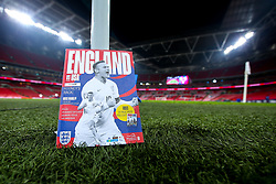 A match day programme with Wayne Rooney of England on the cover ahead of his final performance for the national team - Mandatory by-line: Robbie Stephenson/JMP - 15/11/2018 - FOOTBALL - Wembley Stadium - London, England - England v United States of America - International Friendly