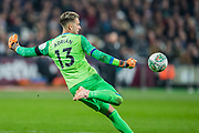 Adrian (GK) (Capt) (West Ham) during the EFL Cup 4th round match between West Ham United and Tottenham Hotspur at the London Stadium, London, England on 31 October 2018.