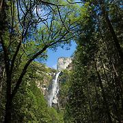 Bridals Veil waterfall. Yosemite Natl. Park. California, USA.