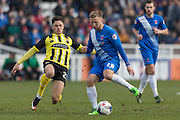 Hartlepool United midfielder Nicky Featherstone in action during the Sky Bet League 2 match between Hartlepool United and Dagenham and Redbridge at Victoria Park, Hartlepool, England on 12 March 2016. Photo by George Ledger.