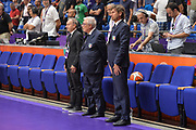 Gianni Petrucci , Gaetano Laporta<br /> Nazionale Italiana Maschile Senior<br /> Eurobasket 2017 - Group Phase<br /> Georgia - Italia<br /> FIP 2017<br /> Tel Aviv, 02/09/2017<br /> Foto Ciamillo - Castoria/ M.Longo