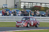 #66 Neil Duke Ford Anglia 1700 during the CSCC Special Saloons and Modsports at Oulton Park, Little Budworth, Cheshire, United Kingdom. October 15 2016. World Copyright Peter Taylor/PSP. <br /> Copy of publication required for printed pictures.  Every used picture is fee-liable. http://archive.petertaylor-photographic.co.uk