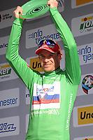 Sykkel<br /> Tour of Norway 2015<br /> Foto: imago/Digitalsport<br /> NORWAY ONLY<br /> <br /> Alexander KRISTOFF ( NOR / Katusha Team ) behauptet die Fuehrung in der Punktewertung - Podium - Siegerehrung - Jubel - Freude - Emotionen - Hochformat - hoch vertikal - Event / Veranstaltung: Tour of Norway - Norwegen Rundfahrt 2015 - Stage 4 / 4.Etappe: Rjukan nach Geilo 168.3 km - Location / Ort: Geilo - Norway - Norwegen - Europe - Europa - Date / Datum: 23.05.2015