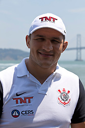 SAN FRANCISCO, CA - JULY 29: Junior dos Santos looks on during a UFC press tour event on July 29, 2013 in San Francisco, California.  (Photo by Jason O. Watson/Zuffa LLC/Zuffa LLC via Getty Images) *** Local Caption *** Junior dos Santos