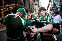 Saint Patricks Day 2012 in New York...Photo by Robert Caplin..