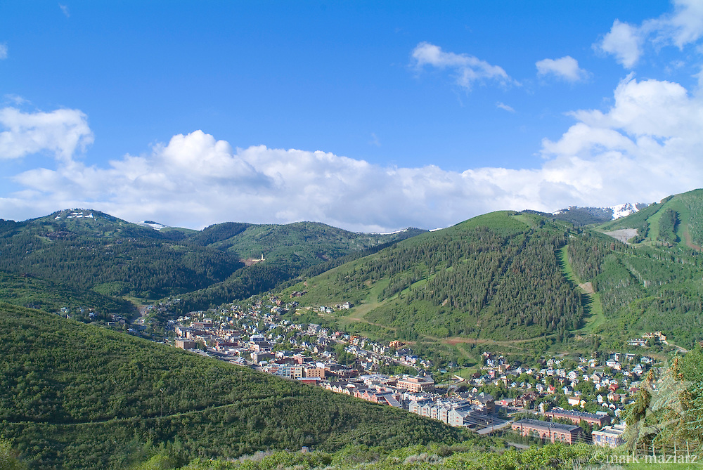 summer view of Old Town, Park City UT USA