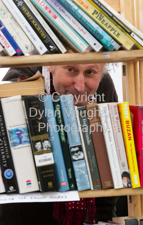 18/9/2010.Book dealer Chris Overfield of Black Cull Books in London pictured at the Graiguenamanagh 'Town of Books' Festival over the weekend..Picture Dylan Vaughan.