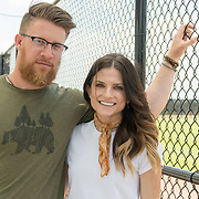 WEST PALM BEACH, FL MARCH 20, 2018:Washington Nationals closer Sean Doolittle and wife Eireann Dolan pose for a photo at FITTEAM Ballpark of the Palm Beaches on March 20, 2018. The couple, married a year ago, is very involved in charitable organizations and are fan favorites. <br /> (Photo by Angel Valentin-For The Washington Post )