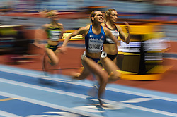 March 2, 2018 - Birmingham, England, United Kingdom - Colleen Quigley of United States at 1500 meter semi final at World indoor Athletics Championship 2018, Birmingham, England on March 2, 2018. (Credit Image: © Ulrik Pedersen/NurPhoto via ZUMA Press)