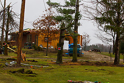 03 December 2018:   Storm damage near LeRoy Illinois from a Tornado strike on December 1, 2018.