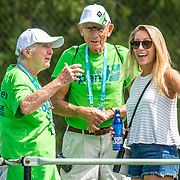 August 21, 2016, New Haven, Connecticut: <br /> A fan is assisted by ushers during Day 3 of the 2016 Connecticut Open at the Yale University Tennis Center on Sunday, August  21, 2016 in New Haven, Connecticut. <br /> (Photo by Billie Weiss/Connecticut Open)