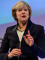 3© Licensed to London News Pictures. 21/11/2016. London, UK. British prime minister THERESA MAY speaking at the Confederation of British Industry (CBI) conference, held at Grosvenor House in London.  Photo credit: Ben Cawthra/LNP