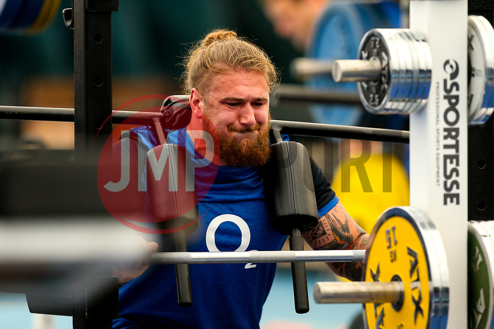 Harry Williams trains in the gym at Clifton College - Mandatory by-line: Robbie Stephenson/JMP - 15/07/2019 - RUGBY - England - England training session ahead of Rugby World Cup