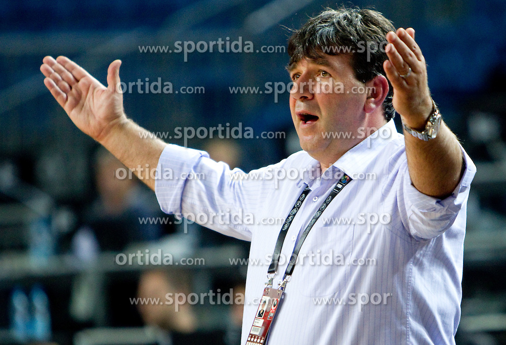 Head coach of Slovenia Memi Becirovic during the seventh-place basketball match between National teams of Slovenia and Russia at 2010 FIBA World Championships on September 11, 2010 at the Sinan Erdem Dome in Istanbul, Turkey.   (Photo By Vid Ponikvar / Sportida.com)