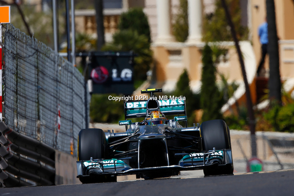 MOTORSPORT - F1 2013 - GRAND PRIX OF MONACO / GRAND PRIX DE MONACO - MONTE CARLO (MON) - 23 TO 26/05/2013 - PHOTO JEAN MICHEL LE MEUR / DPPI - HAMILTON LEWIS (GBR) - MERCEDES GP MGP W04 - ACTION