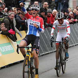 26-12-2019: Wielrennen: Wereldbeker veldrijden: Zolder <br />Lucinda Brand wins Worldcup race at circuit Terlamen. 2nd Ceylin Alvardao and 3th Annemarie Worst