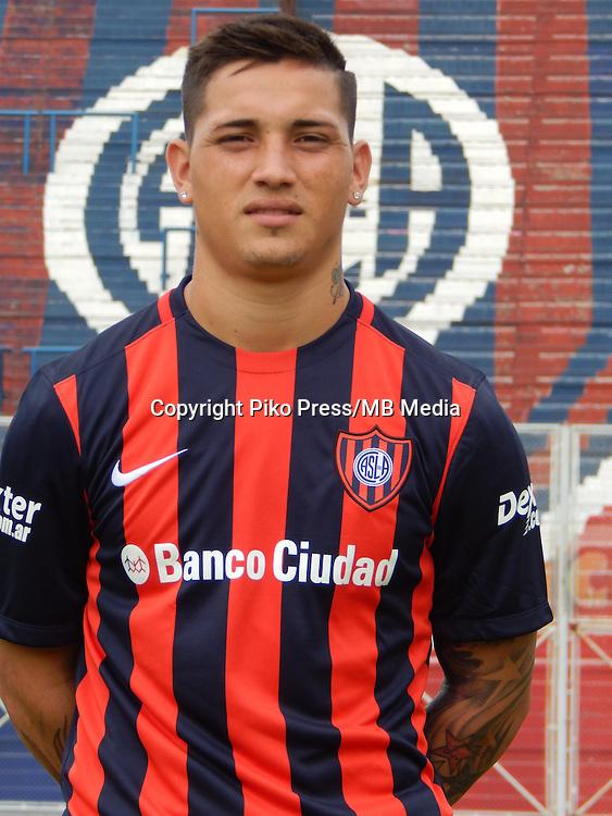 CAMPEONATO ARGENTINO Soccer / Football. <br /> SAN LORENZO de ALMAGRO Portraits <br /> Bs.As. Argentina. - April,28 , 2015<br /> Here San Lorenzo player NICOLAS AVILA<br /> &copy; PikoPress