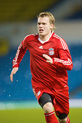 LEEDS, ENGLAND - Tuesday, December 2, 2008: Liverpool's Christopher Buchtmann in action against Leeds United during the FA Youth Cup 3rd Round at Elland Road. (Photo by David Rawcliffe/Propaganda)