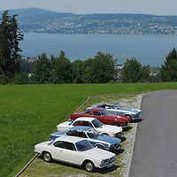 The BMW Classic Tour participants at Lake Zurich, 2011