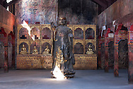 Buddha figure in a tibetan temple in the Oscar Film Studios in Ouarzazate, Morocco.
