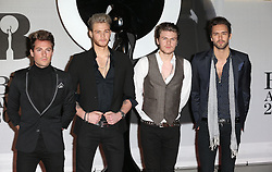 Boy band Lawson arriving at the BRIT Awards in London, Wednesday, 19th February 2014. Picture by Stephen Lock / i-Images