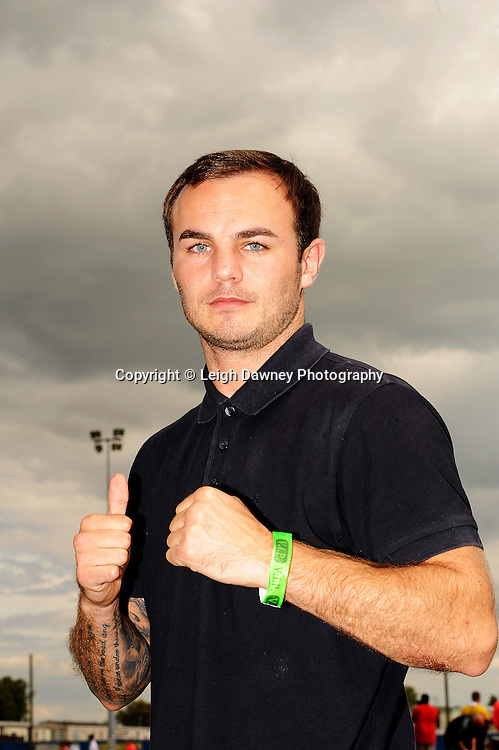 Boxer Kevin Mitchell at The Indee Rose Trust, Charity football tournament featuring boxing and tv personalities. The Concord Rangers FC, Canvey Island, Essex, 14th August 2011. Photo credit: Leigh Dawney 2011