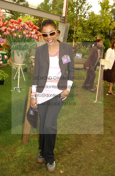 Actress Sophie Okonedo at the 2005 RHS Chelsea Flower Show on 23rd May 2005<br />