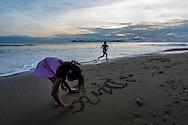 Playa Reina, en la costa sur del Golfo de Montijo en  la provincia de Veraguas,  Panamá.