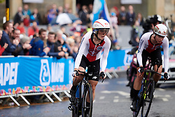 Elise Chabbey (SUI) at UCI Road World Championships 2019 Mixed Relay a 27.6 km team time trial in Harrogate, United Kingdom on September 22, 2019. Photo by Sean Robinson/velofocus.com