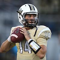 ORLANDO, FL - OCTOBER 09:  Quarterback Pete DiNovo #14 of the UCF Knights is seen in warmups at Bright House Networks Stadium on October 9, 2014 in Orlando, Florida. (Photo by Alex Menendez/Getty Images) *** Local Caption *** Pete DiNovo