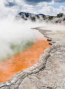 """Champagne Pool, at Wai-O-Tapu Thermal Wonderland, North Island, New Zealand. Published in """"Light Travel: Photography on the Go"""" by Tom Dempsey 2009, 2010."""