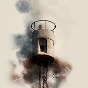 Digitally enhanced image of an Air raid siren in the centre of Tel Aviv, Israel