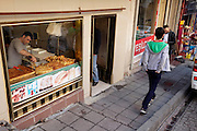 traditional bakery shop in the old city Sultanahmet area of Istanbul Turkey