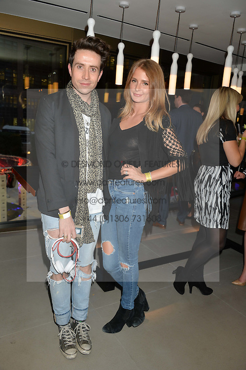 MILLIE MACKINTOSH and NICK GRIMSHAW at the launch of Broadgate Circle, City of London on 9th June 2015.