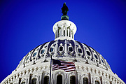 The US Capitol Building on Capitol Hill. The Congress Building is divided into the Senate and the House.