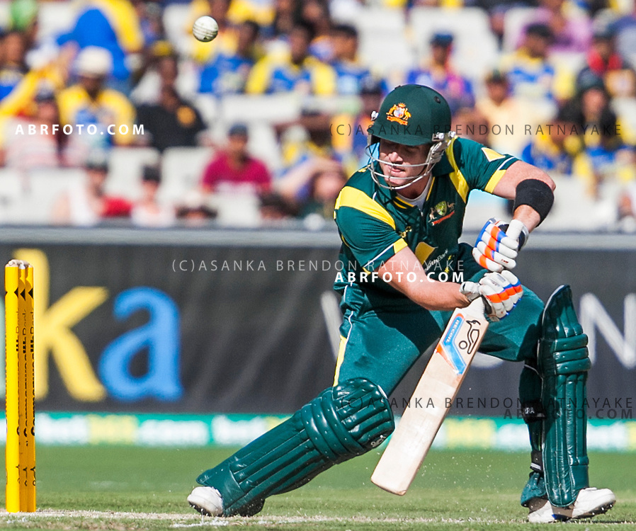 Brad Haddin Batting during game 1 of the Commonwealth Bank Series Australia v Sri Lanka played at the Melbourne Cricket Ground in Melbourne,Victoria, Australia. Photo Asanka Brendon Ratnayake