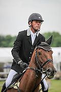 ZEBEDEE DE FOJA ridden by OLIVIA WILMOT (New Zealand) during the final jumping event at Bramham International Horse Trials 2016 at  at Bramham Park, Bramham, United Kingdom on 12 June 2016. Photo by Mark P Doherty.