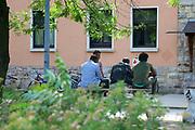 Mannheim. 14.07.17 | Spinelli<br /> Feudenheim. Spinelli. Ehemaliges US Areal wird derzeit als Fl&uuml;chtingsunterkunft verwendet. <br /> 2023 soll hier die Bundesgartenschau BUGA stattfinden.<br /> - Tag der offenen T&uuml;r.<br /> <br /> <br /> BILD- ID 0413 |<br /> Bild: Markus Prosswitz 14JUL17 / masterpress (Bild ist honorarpflichtig - No Model Release!)