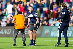 Half time community activity - Rogan/JMP - 07/10/2018 - RUGBY UNION - Sixways Stadium - Worcester, England - Worcester Warriors v Bristol Bears - Gallagher Premiership.