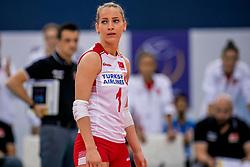 01-10-2017 AZE: CEV European Volleyball Azerbeidzjan - Turkije, Baku<br /> Turkije pakt de bronze medaille door het thuisland met 3-1 te verslaan / Hatice Gizem Orge #1 of Turkey