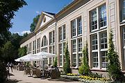Orangerie, ehem. Wandelhalle, Kurpark, Bad Homburg, Taunus, Rhein-Main-Gebiet, Hessen, Deutschland | former pump room, spa gardens, Bad Homburg, Taunus, Hesse, Germany